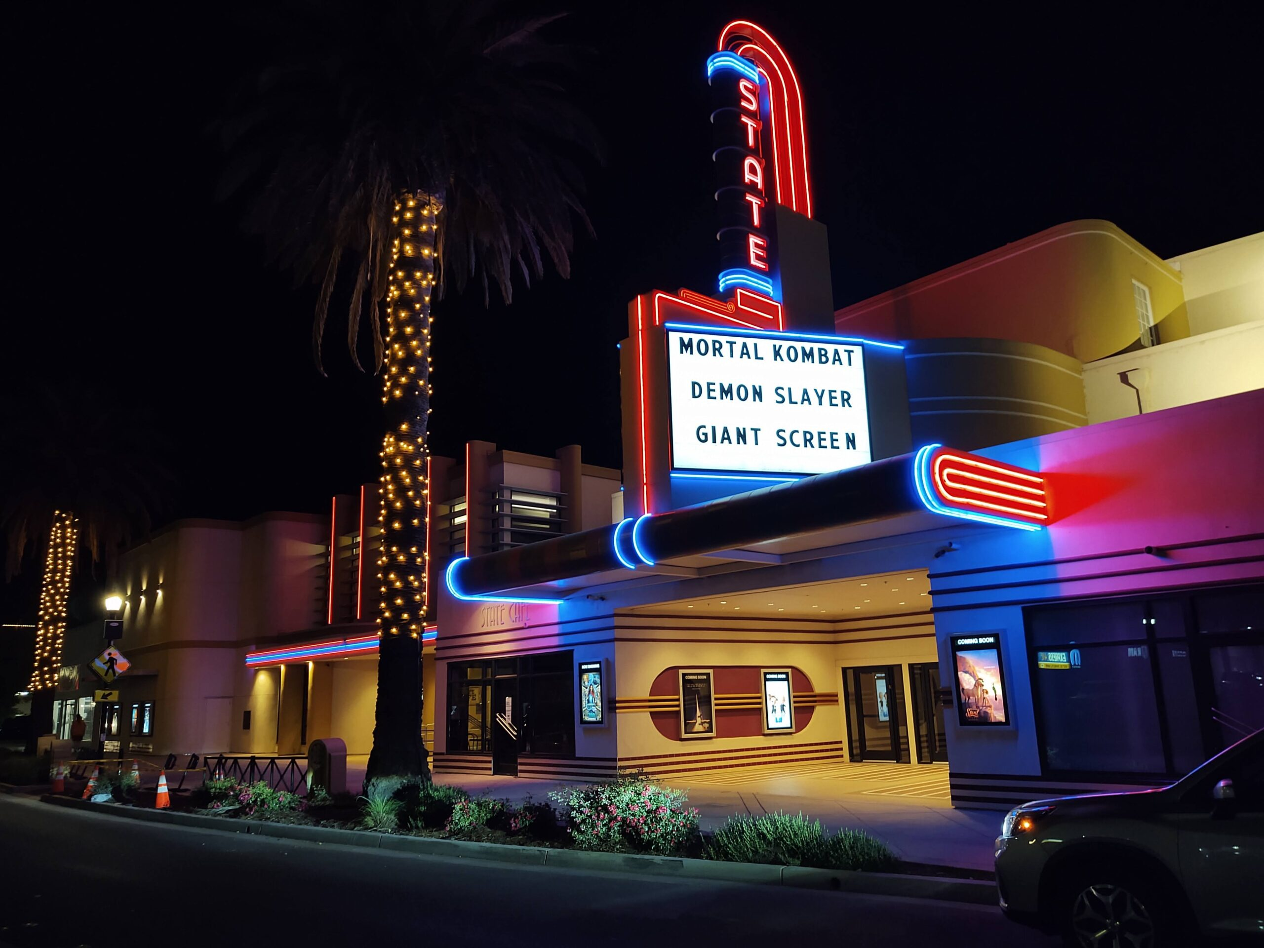 State Movie Theater Woodland April 2021